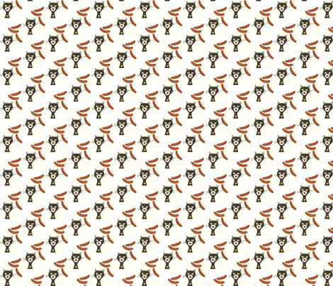 Kat and Dawg fabric by taztige on Spoonflower - custom fabric