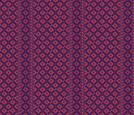 african_blockprints rose fabric by glimmericks on Spoonflower - custom fabric