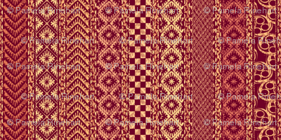african_stripes-red