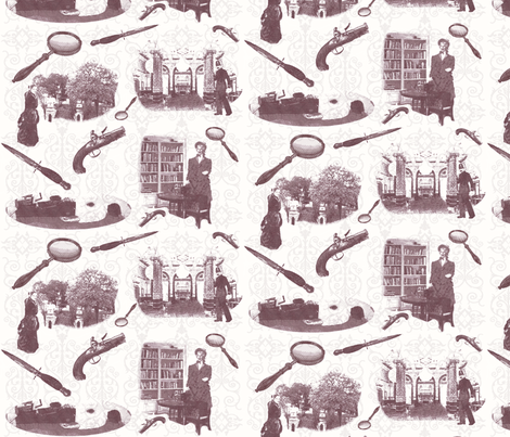 too-many-clues fabric by grafikat on Spoonflower - custom fabric