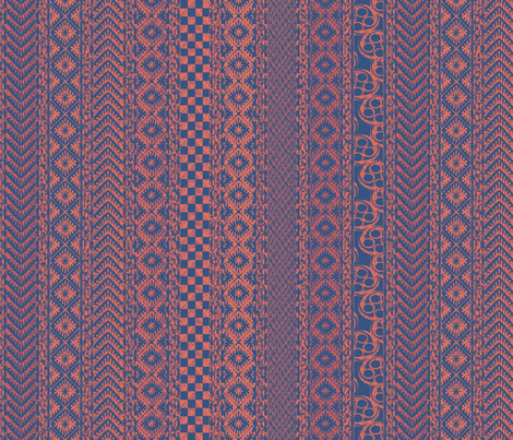 african_stripes-rose fabric by glimmericks on Spoonflower - custom fabric
