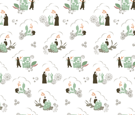 Whodunnit? fabric by gracemellow on Spoonflower - custom fabric