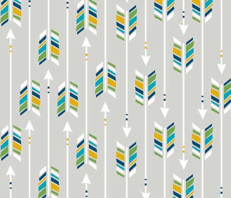 Large Arrows: The Great Outdoors fabric by nadiahassan on Spoonflower - custom fabric