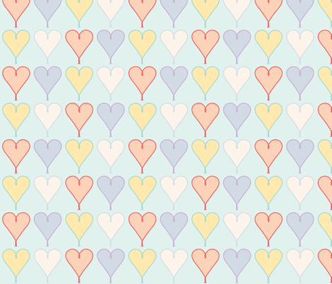 Candy Hearts fabric by eclecticlauren on Spoonflower - custom fabric