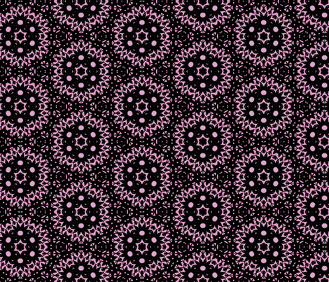 Midnight Doily Black and Lilac fabric by beesocks on Spoonflower - custom fabric