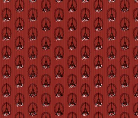 Paris in Red fabric by parasol_designs on Spoonflower - custom fabric