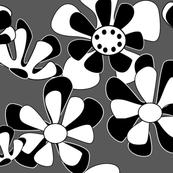 flower ocean greyscale