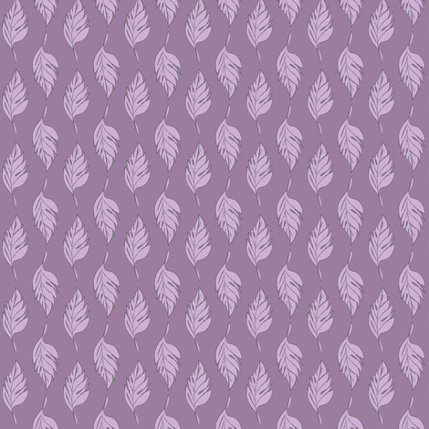 Feathered Plume - Purple fabric by alainasdesigns on Spoonflower - custom fabric
