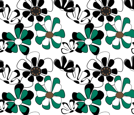 flower ocean water fabric by kaija on Spoonflower - custom fabric