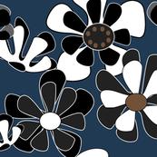 dark blue flower ocean