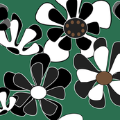 dark green flower ocean