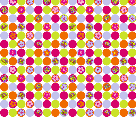 Spring circles 2.  fabric by juliagrifol on Spoonflower - custom fabric