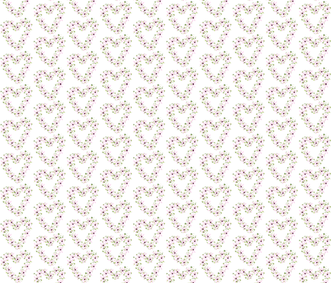floral heart  fabric by krs_expressions on Spoonflower - custom fabric