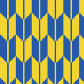 arrow - yellow, blue