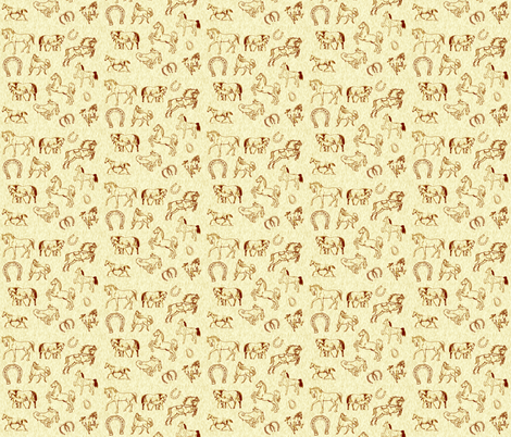 horses fabric by krs_expressions on Spoonflower - custom fabric
