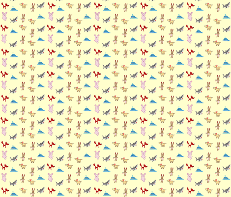 animals fabric by krs_expressions on Spoonflower - custom fabric
