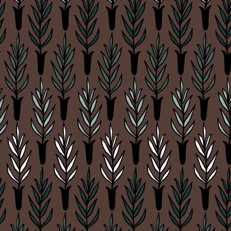 Potted Plant Gradient fabric by pond_ripple on Spoonflower - custom fabric
