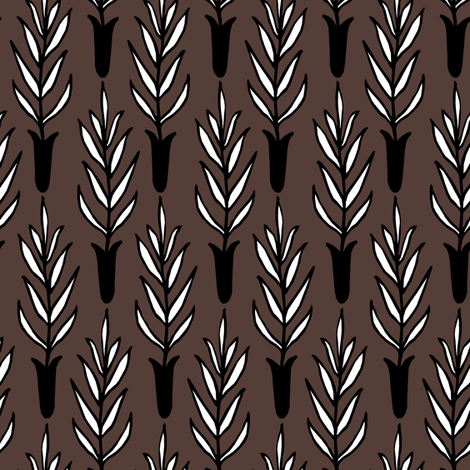 Potted Plant II. fabric by pond_ripple on Spoonflower - custom fabric