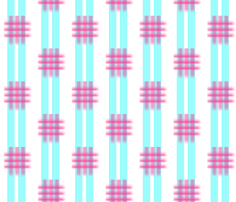 Stripes with a grid fabric by anniedeb on Spoonflower - custom fabric