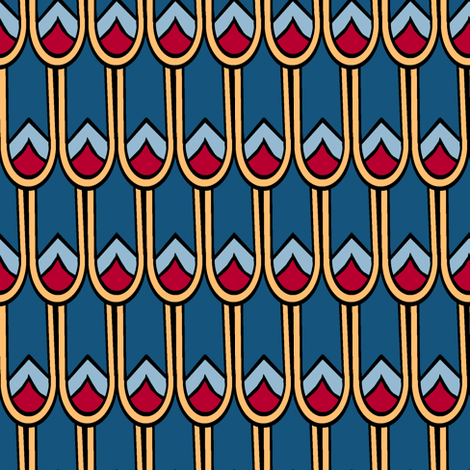 Egyptian Feathers fabric by pond_ripple on Spoonflower - custom fabric