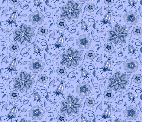 Whispery Periwinkle Garden fabric by kari_d on Spoonflower - custom fabric