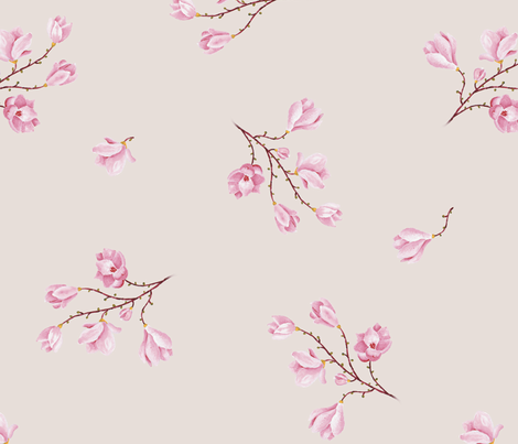 almond Blossoms_roz fabric by edrouga on Spoonflower - custom fabric