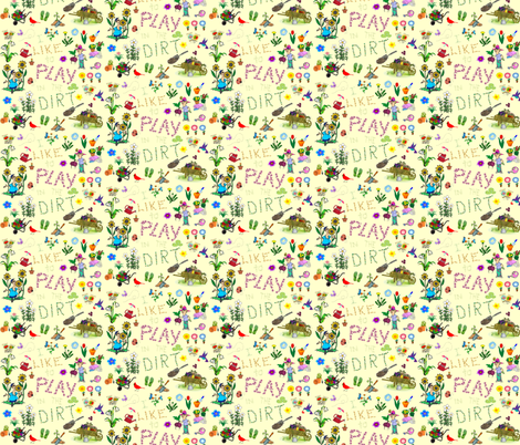 garden fabric by krs_expressions on Spoonflower - custom fabric