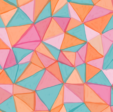 painted triangles fabric by ravynka on Spoonflower - custom fabric