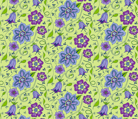 Whispery Garden fabric by kari_d on Spoonflower - custom fabric