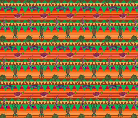 African Inspired fabric by linsart on Spoonflower - custom fabric