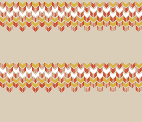 TanMustardZigZag fabric by mrshervi on Spoonflower - custom fabric