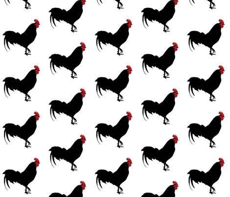 REPEATING ROOSTERS fabric by bluevelvet on Spoonflower - custom fabric