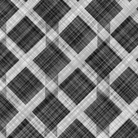 Grid Plaid Linen - Black White