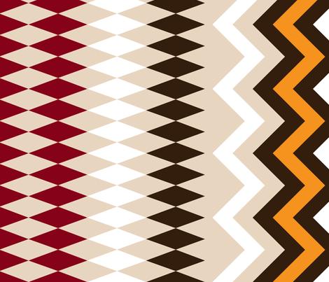 Earthy Geometry fabric by jencameron on Spoonflower - custom fabric