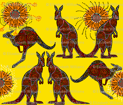 Kangaroos with a Lemon Sky
