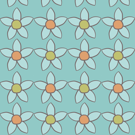 Flower Doodles fabric by juliapaigedesigns on Spoonflower - custom fabric