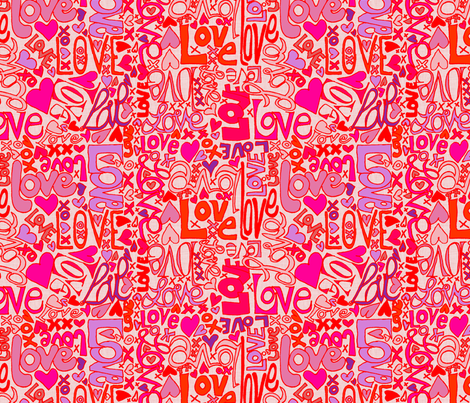 Love Letters. In your face. fabric by wiccked on Spoonflower - custom fabric