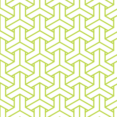 bishamon in peridot fabric by chantae on Spoonflower - custom fabric