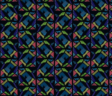 Urban Stainglass fabric by clarissagunndesign on Spoonflower - custom fabric