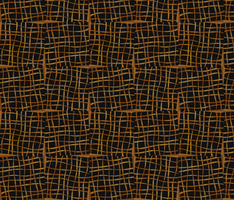ribbonBlocks-brown fabric by melhales on Spoonflower - custom fabric