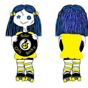 Large Yellow Rocking Derby Doll