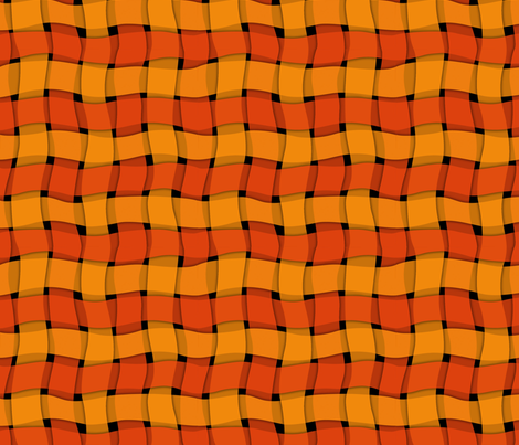 woven_ribbon-orange fabric by melhales on Spoonflower - custom fabric