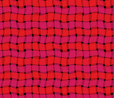 woven_ribbon-red fabric by melhales on Spoonflower - custom fabric