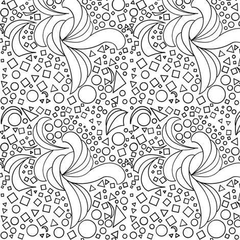 Knot So Busy - Black and White fabric by telden on Spoonflower - custom fabric