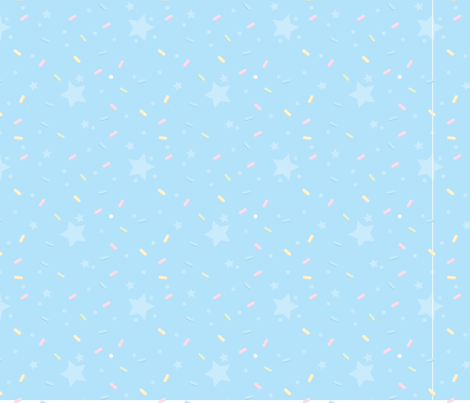 Pastry Palace - Blue - Sprinkles fabric by frostedfleurdelis on Spoonflower - custom fabric