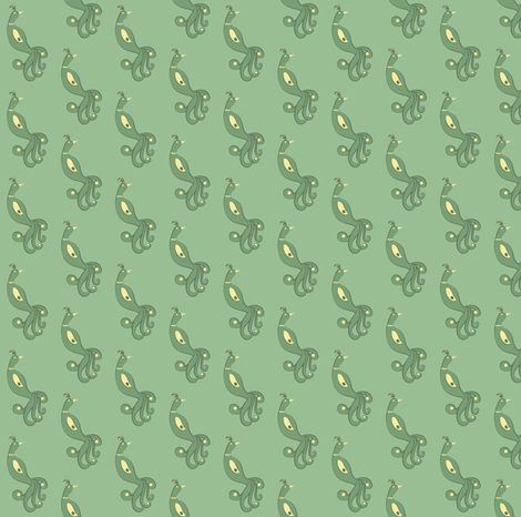 Green Firebird fabric by alainasdesigns on Spoonflower - custom fabric