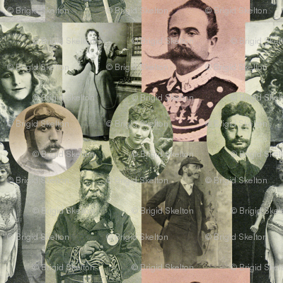 Magazine Portraits Collage: with vignettes