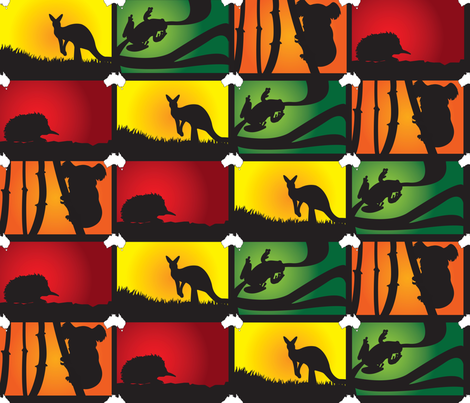 Australian Animal Adventure fabric by illustrative_images on Spoonflower - custom fabric