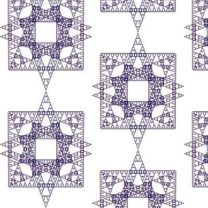Plum Triangles, Squares and Stars Fractal - Oh, My!