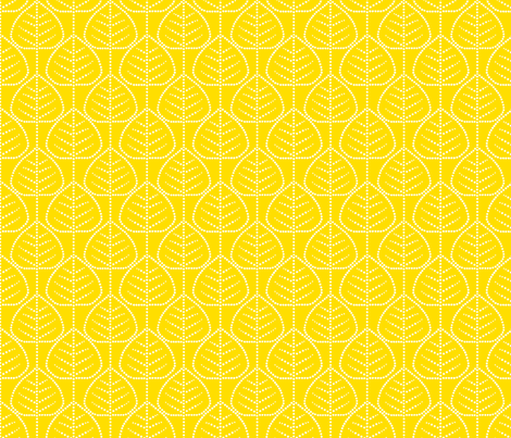 Leaf (yellow) fabric by pattern_bakery on Spoonflower - custom fabric
